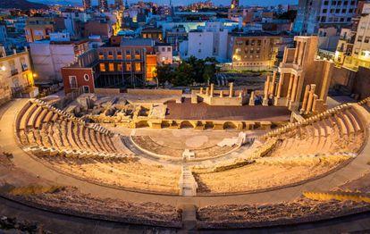 The Roman theater in Cartagena (Murcia).
