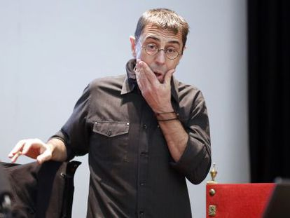 Juan Carlos Monedero, during a conference at a university business school last January.