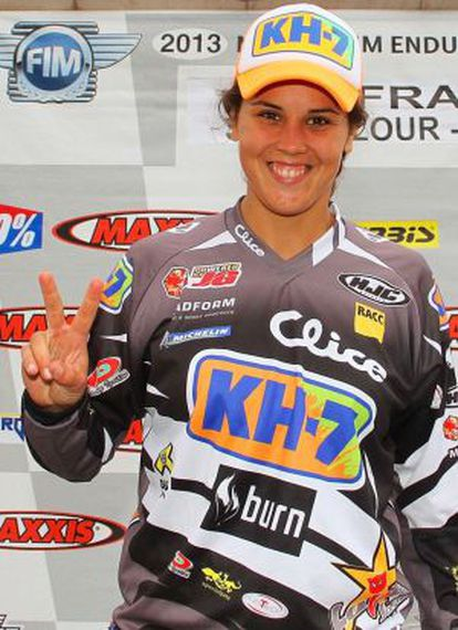 Laia Sanz after winning her second Enduro title.
