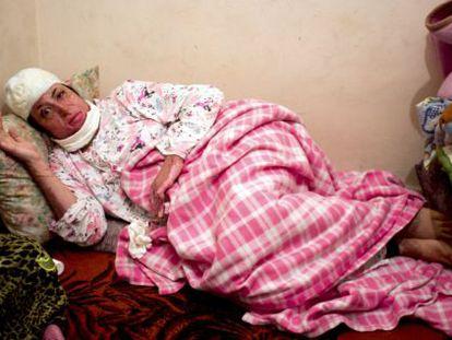 Manar Almustafa, pictured in a Melilla hospital.