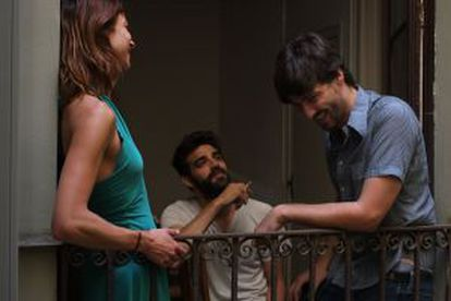 Natalia Tena, David Verdaguer (c) and director Carlos Marques-Marcet.