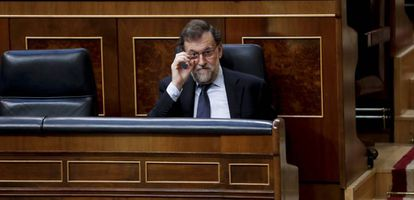 Spanish PM Mariano Rajoy in Congress.
