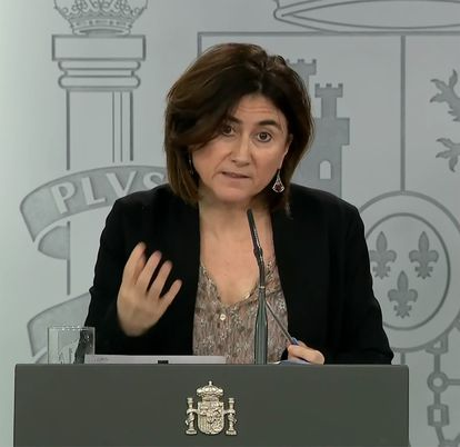 María José Sierra, spokesperson for Spain's health emergency coordination center, at a news conference on Friday.