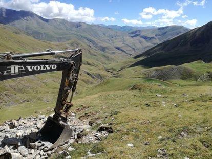 Work to expand the Cerler ski resort in Castanesa valley.