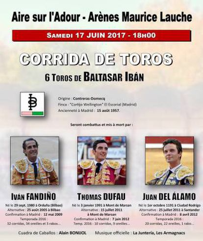 The poster advertising the corrida in which Fandiño died.