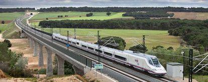 AVE Madrid-Valencia rail line.