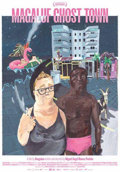 El cartel de 'Magloof Ghost Town' fue presentado por la artista barcelonesa Clara S.  El director Miguel Angel Blanca explica que Bruce ha creado,
