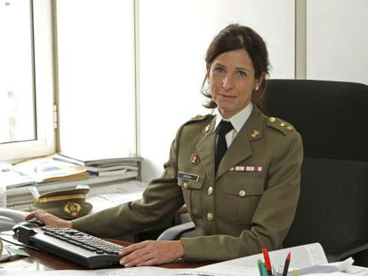Patricia Ortega is the first woman to rise to lieutenant colonel in the Spanish armed forces