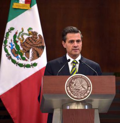 President Peña Nieto has warned that violent activists are using the protests over the 43 disappeared students as cover.