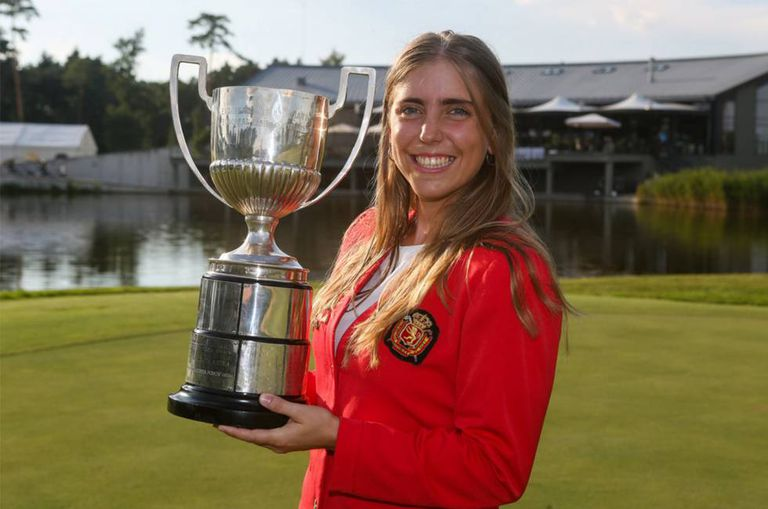 Spanish golfer Celia Barquín.