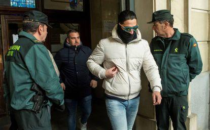 Two members of La Manada leaving court on December 26.