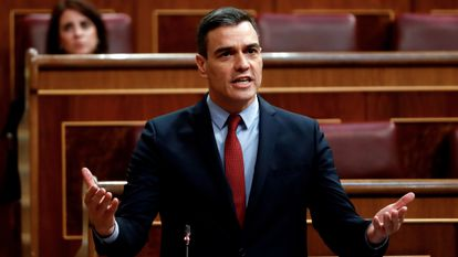 Prime Minister Pedro Sánchez in Congress on Wednesday.
