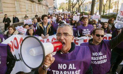 A 2015 protest against the Tajo-Segura water transfer.