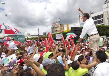 Enrique Peña Nieto seen at a campaign rally last Saturday in Tuxtla, Gutiérrez state.