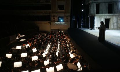 A performance of the opera Elektra at Teatro Real.