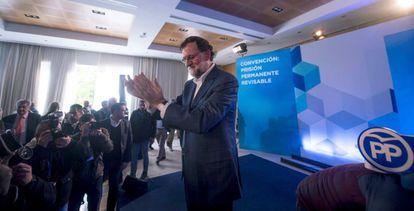 Spanish PM Mariano Rajoy in Córdoba on Sunday.