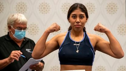 The Mexican boxer Jeanette Zacarías.