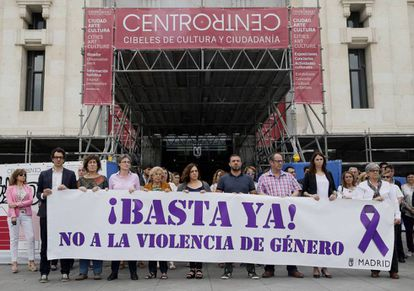 A Madrid protest against gender violence in May 2017.