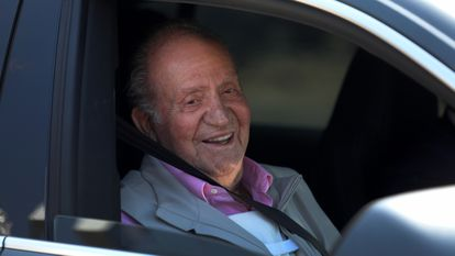 Emeritus king Juan Carlos I after medical treatment in August 2019.