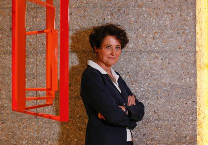 Edith Heard, the director of the European Molecular Biology Laboratory, in Madrid before the interview.