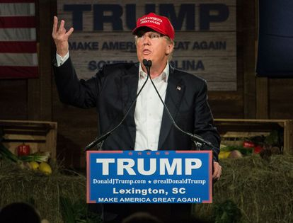 Donald Trump during a campaign stop in South Carolina.