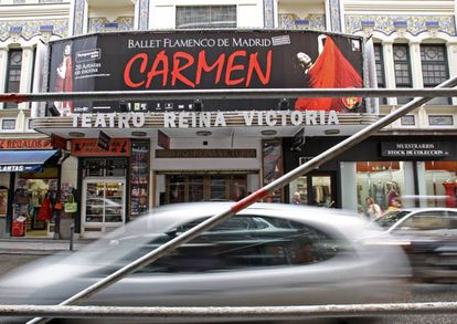 Meyer attacked Sara Casasnovas outside this Madrid theater.