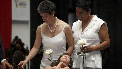 One of the first gay weddings in Mexico City in 2010.
