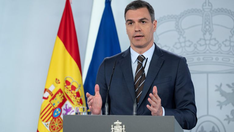Spanish Prime Minister Pedro Sánchez on Saturday.