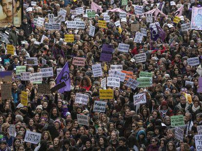 March against gender violence in Madrid on November 25.