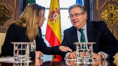 Andalusia regional premier Susana Díaz and Interior Minister Juan Ignacio Zoido.