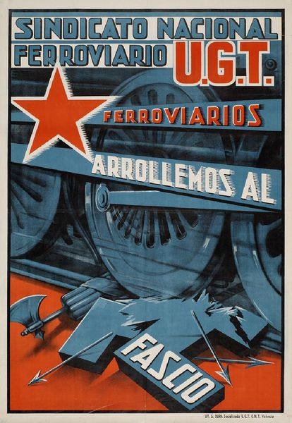 The national railway union and UGT poster from 1937.