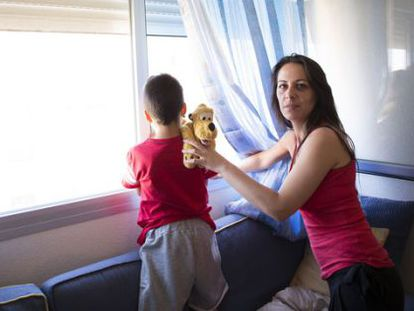 Vanesa Fernández and her son's low-rent apartment in Madrid's Vallecas district now belongs to investment bank Goldman Sachs.