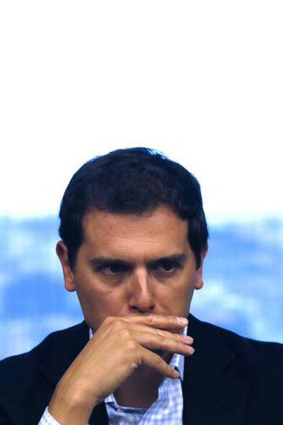 Ciudadanos leader Albert Rivera in Congress on Tuesday.