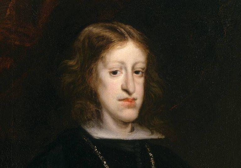 Portrait of Carlos II of Spain, painted around 1680 by Juan Carreño de Miranda.
