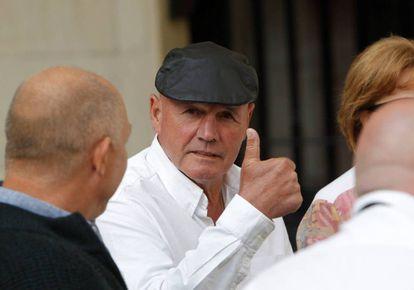 Brian Charrington near the court in Alicante, in a February photo.