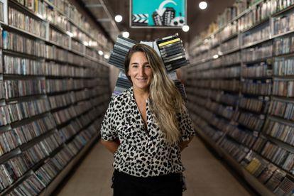 Aurora Depares, the owner of Video Instan in Barcelona.