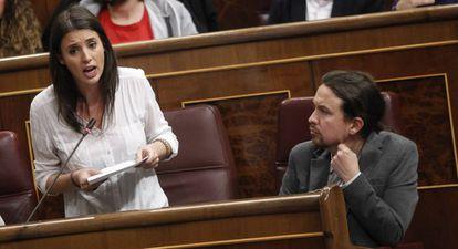 Irene Montero and Pablo Iglesias.