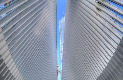 Vista de la Torre Uno desde el interior del Oculus