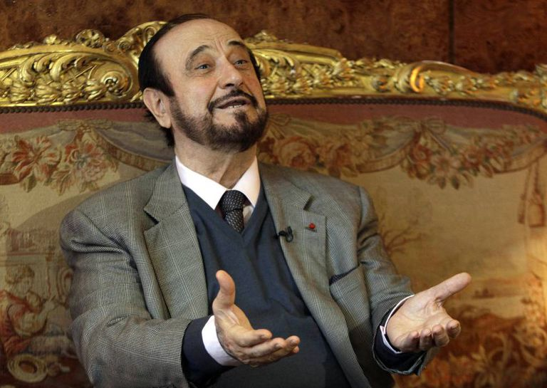 Rifaat al-Assad during an interview in Paris in 2011.