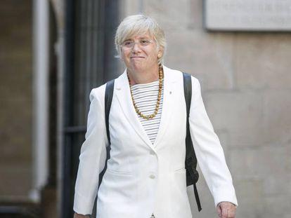 The ex-regional minister of education in Catalonia, Clara Ponsatí.