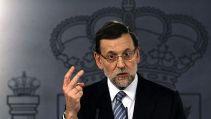 Mariano Rajoy, speaking in Madrid on Monday.