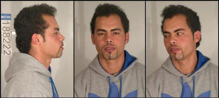Police mug shots of Mohamed Echaabi, who was arrested Thursday in Valencia.