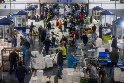 The central supply market in Seville, on Thursday.
