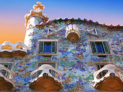 The Casa Batlló house designed by Antoni Gaudí.