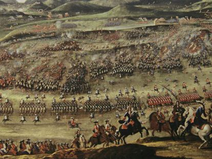 Detail of 'The Battle of Almansa' by Buonaventura Ligli, from the Prado Museum collection.