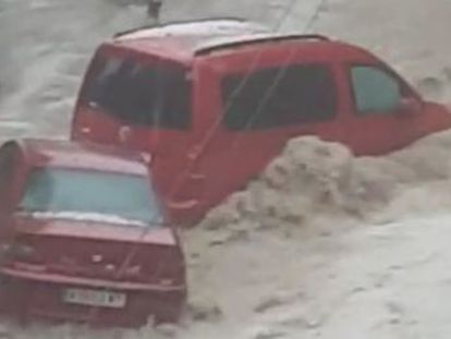 The worst-affected municipality in the region was Arganda del Rey, where heavy rainfall caused a torrent of water that swept away cars and street furniture