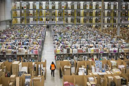 Amazon's logistics center in San Fernando de Henares, outside Madrid.