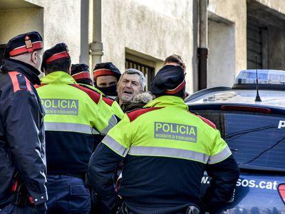 Jordi Magentí this morning during his arrest.