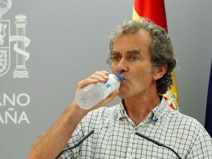 Fernando Simón at Thursday's press conference.