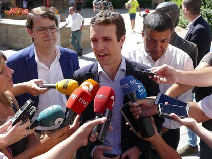 Popular Party leader Pablo Casado.